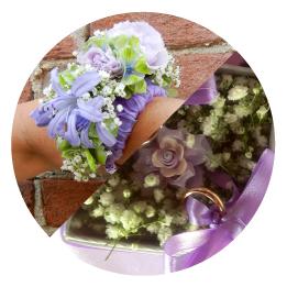 I fiori per il tuo matrimonio a Torino Portafedi e Bracciali