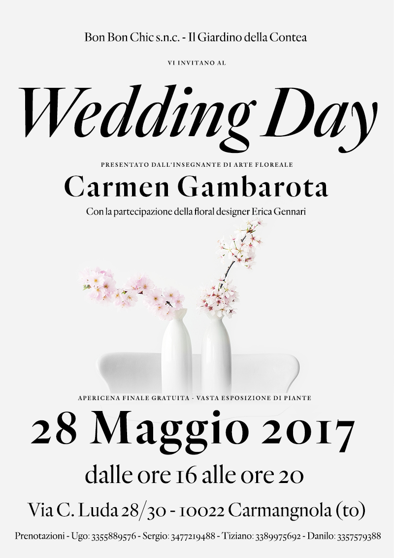 Wedding Day - 28 Maggio 2017 con Carmen Gambarota
